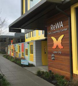 Street entrance to ReWA's Lake City location.