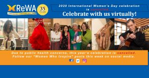 International Women's Day Celebration cancelled due to public health concerns.