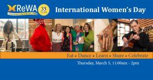 Invitation to International Women's Day Celebration on March 5th at ReWA