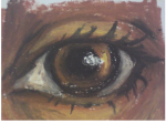drawing of an eye for art class