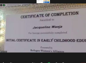 Certificate for Early Childhood Education certificate